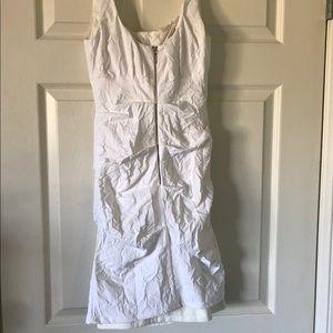 Nicole Miller Dresses - Nicole Miller White Crinkled Dress